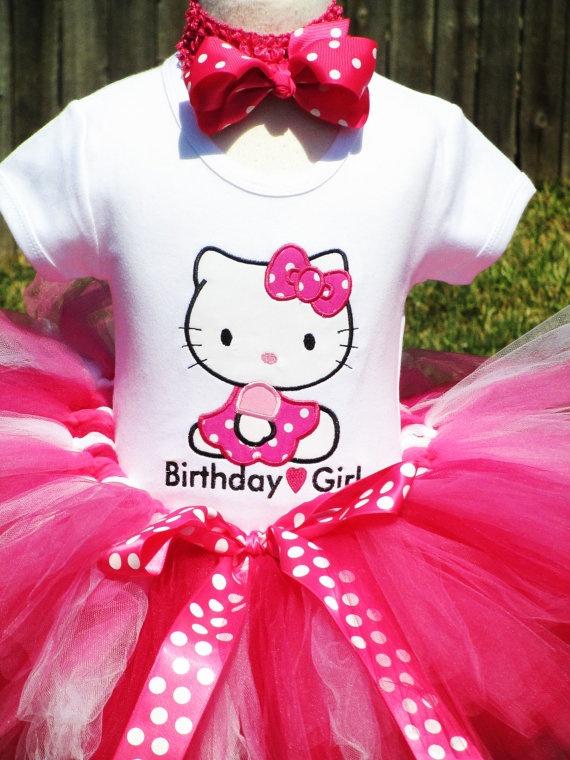 Sitting Pretty Hello Kitty Birthday Tutu by TutuBellaCoutureLtd, $49.95