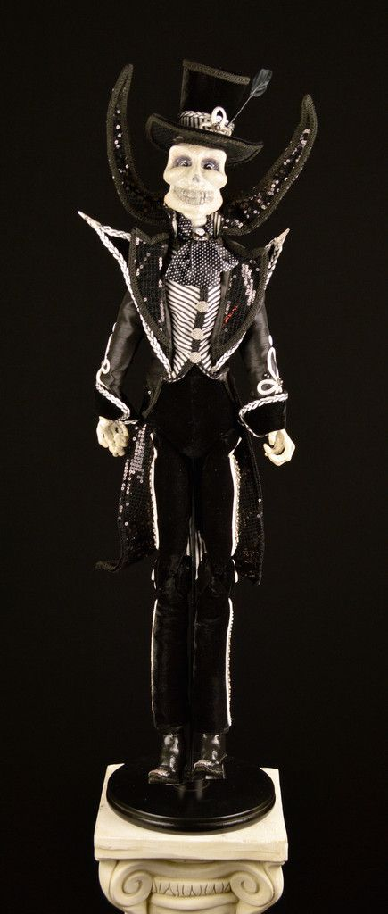 FREE SHIPPING! Part of the Drop Dead Gorgeous line at Katherine's Collection, he is a beautifully designed collectible doll. Black Bow Halloween Shoppe.