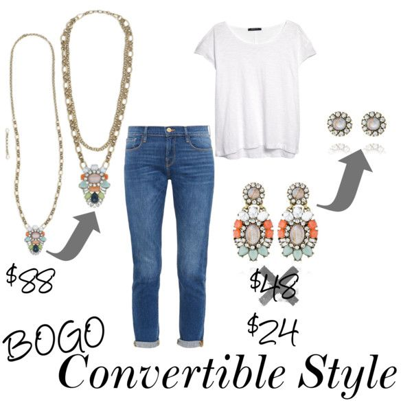 Mother's Day Sale: Convertible Style by amlindseyjam on Polyvore featuring MANGO, Frame Denim, casual, chloeandisabel, sale, convertible and Bogo