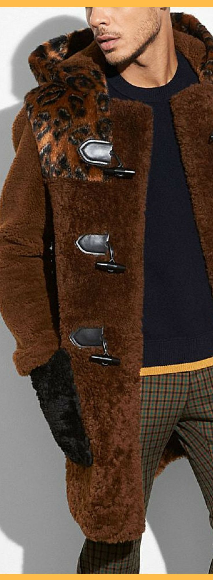 Gorgeous COACH Men's Shearling Mix Duffle Coat #coachcoat #men #menstyle #man #handsome #coach #menfashion