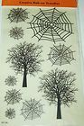 HALLOWEEN rub ons REMINISCE scrapbook SPIDER WEBS TREES