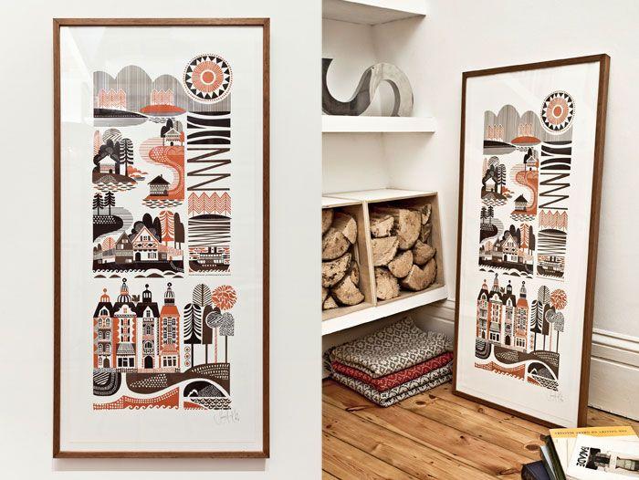 (Print by Sanna Annukka ) but i love the idea of the firewood, too!