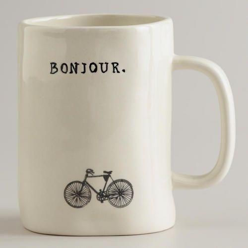 Bonjour Bike Mug #aspenheights #homedecor