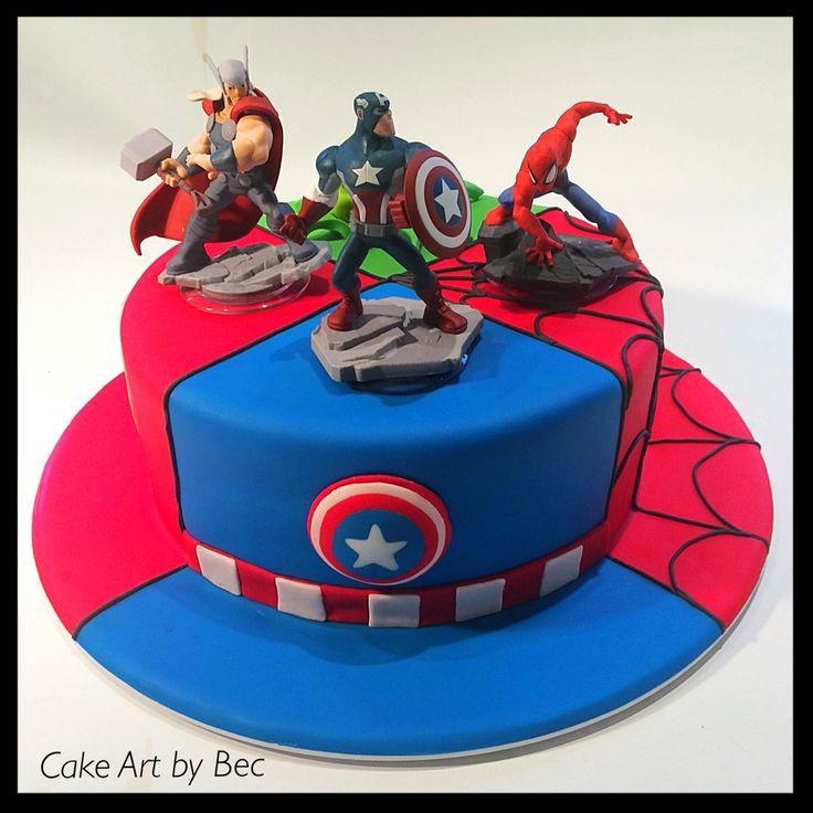 Cake Art By Bec : Avenger cake My big cakes Pinterest Avenger cake ...