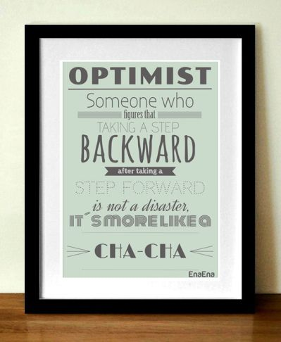 Optimist quote poster - Give Away - Free - EnaEna