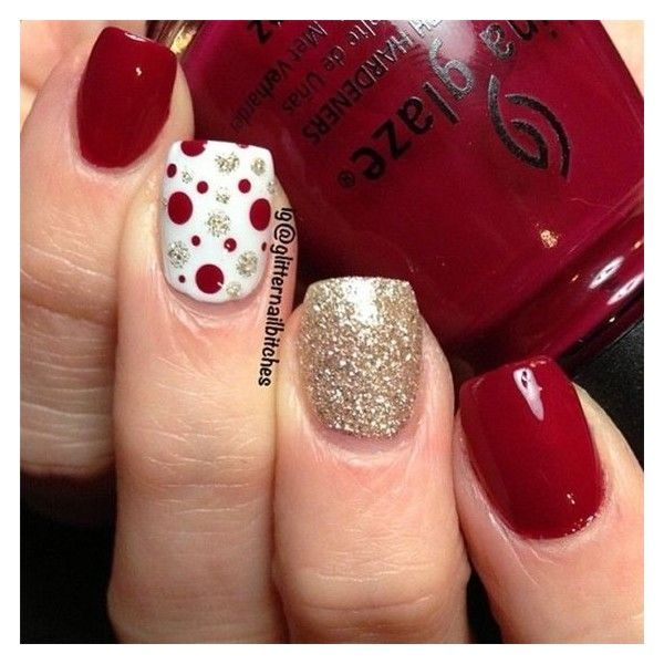 6 Christmas Nail Art Ideas to Sparkle this Season ❤ liked on Polyvore featuring home, home decor, holiday decorations, christmas home decor, christmas holiday decorations, holiday home decor and holiday decor
