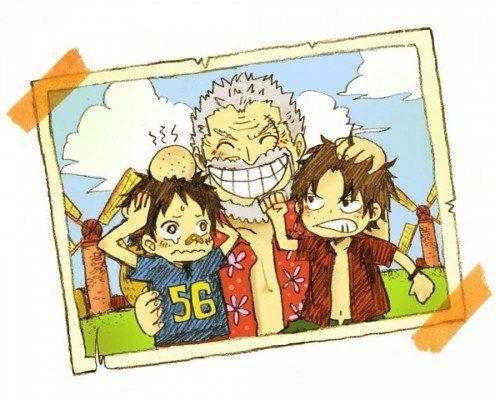 One Piece Garp, Ace et Luffy