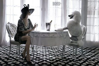 Dogs are the greatest  companions...  Image courtesy of Italian Vogue 2009