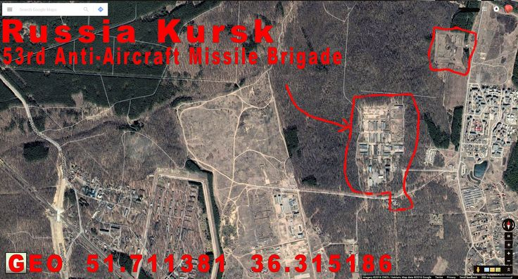Kursk Russia. 53rd AA Missile Brigade, the one that delivered and shot the BUK missile that downed MH17.
