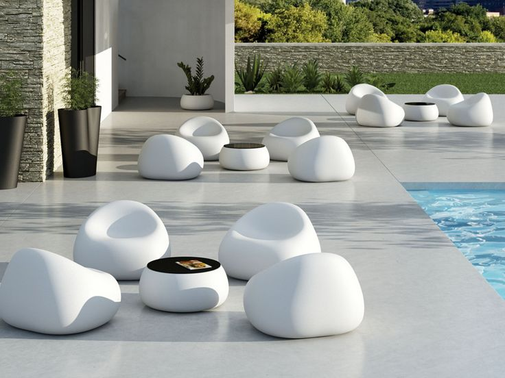 Resin garden armchair GUMBALL ARMCHAIR Gumball Collection by PLUST Collection by Euro 3 Plast | design Alberto Brogliato