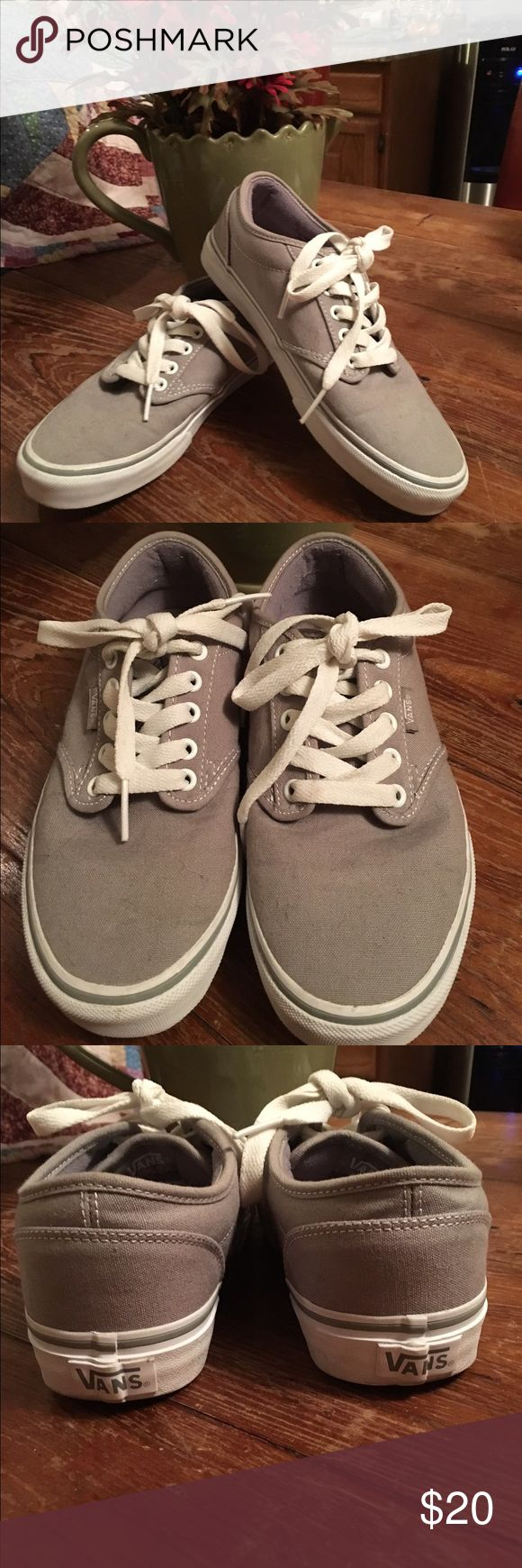 Vans in grey for ladies. Hardly worn. Size 8 Grey ladies Vans Size 8.  In great condition, worn only handful of times. Great buy Vans Shoes Sneakers