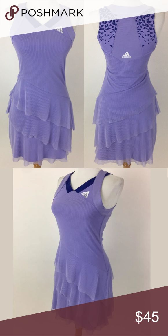 Adidas Clima 365 tennis dress Waist: 27 Bust: 30 Length Shoulder to Hem: 33 100% polyester  Item #2031 adidas Dresses