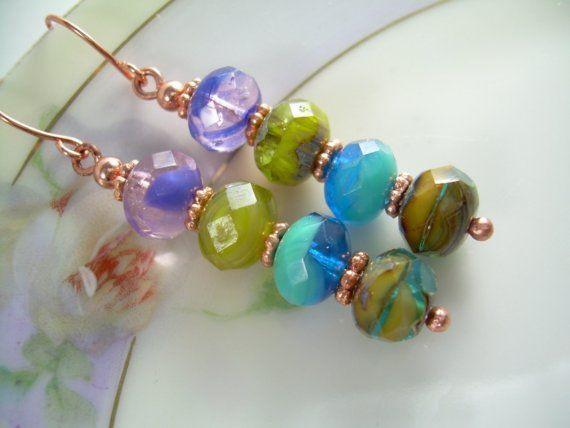 Lagoon - Picasso Bead Earrings
