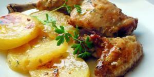 Receta de Pollo al cava en horno