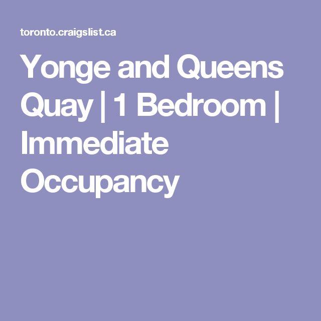 Yonge and Queens Quay | 1 Bedroom | Immediate Occupancy