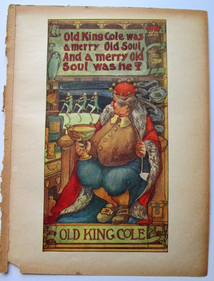 "Vivid 1915 H. B Matthews ""Old King Cole"" Illustration by PureSweetGoodness on Etsy https://www.etsy.com/listing/181160007/vivid-1915-h-b-matthews-old-king-cole"