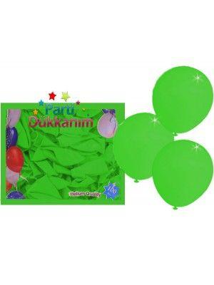 Yeşil Balon 20 Adet