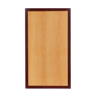 Ebern Designs Milton Rectangular Two-Tone Resin Table Top Size: 60″ H x 30″ W