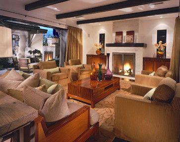 Newport Beach Custom Home 02 - tropical - Living Room - Orange County - Sennikoff Architects