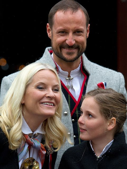 Norway's National Day Celebrations 2015, May 17 Crown Prince Haakon of Norway and Crown Princess Mette-Marit of Norway with Princess Ingrid Alexandra