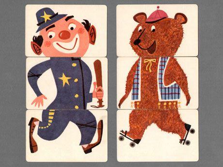 Roller Skating Bear + Clown Policeman: Illustrations Inspiration, Circus Illustrations, Rollers Skating, Illustration Inspiration, Skating Bears, Clowns Policeman, Mixi Cards