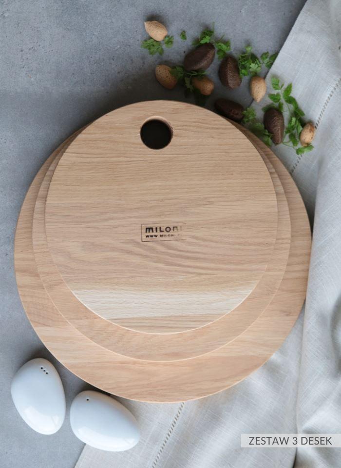 MILONI cutting board set - sizes: 25,30,35cm. Multipurpose. A must have in every kitchen. #miloni #meble #drewno #design #furniture #design #wood #cutting #board #christmas #christmascontest #milonimeble #kitchen #instafood #musthave