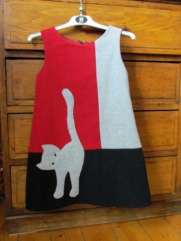 vestido com gatinho