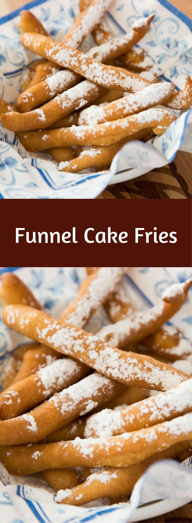 Funnel Cake Fries are one of the most incredible fries you will ever have! You can't resist these light and airy cake fries! Perfect for desserts, snacks or a fun party!