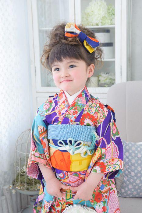 Cute! Kimono little girl. #japan #kimono