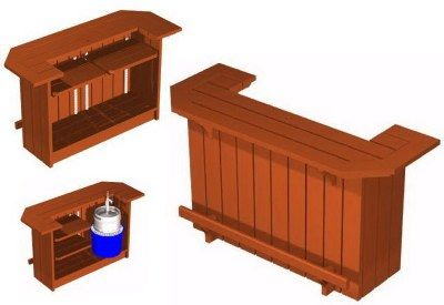 Home Bar Plans - Easy Designs to Build your own Bar - Outdoor