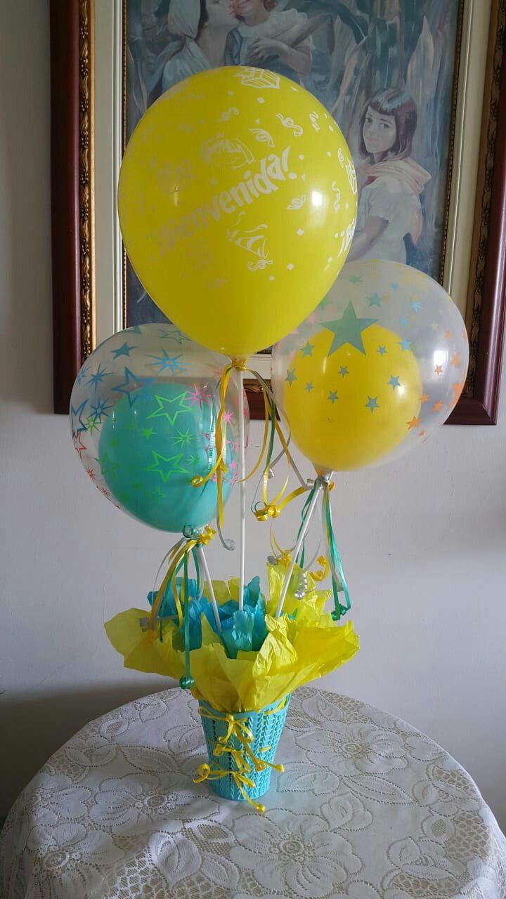 18 Infantil centros de mesa con globos