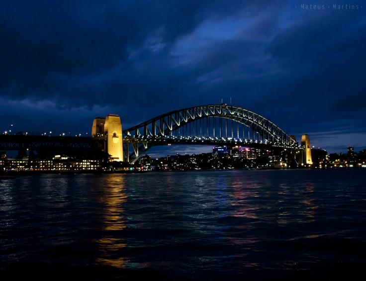 #Architecture #Blue #Bridge #Cannon #City #Harbour #Harbour Bridge #Sydney #night #sky #Sydney Rocks