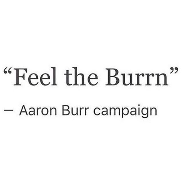 "Omg he and Bernie would have such a bond. ""Feel the Burn with Bernie & Burr!"" - actual campaign slogan if they were to run together, probably"