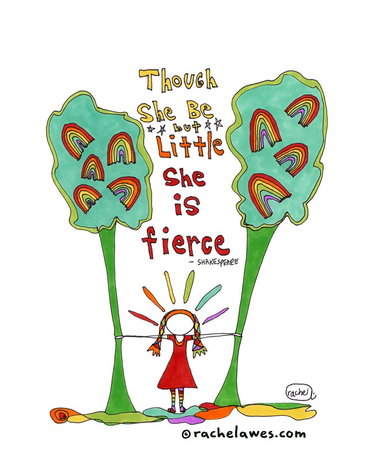 Though she be but little she is fierce. http://rachelawes.etsy.com