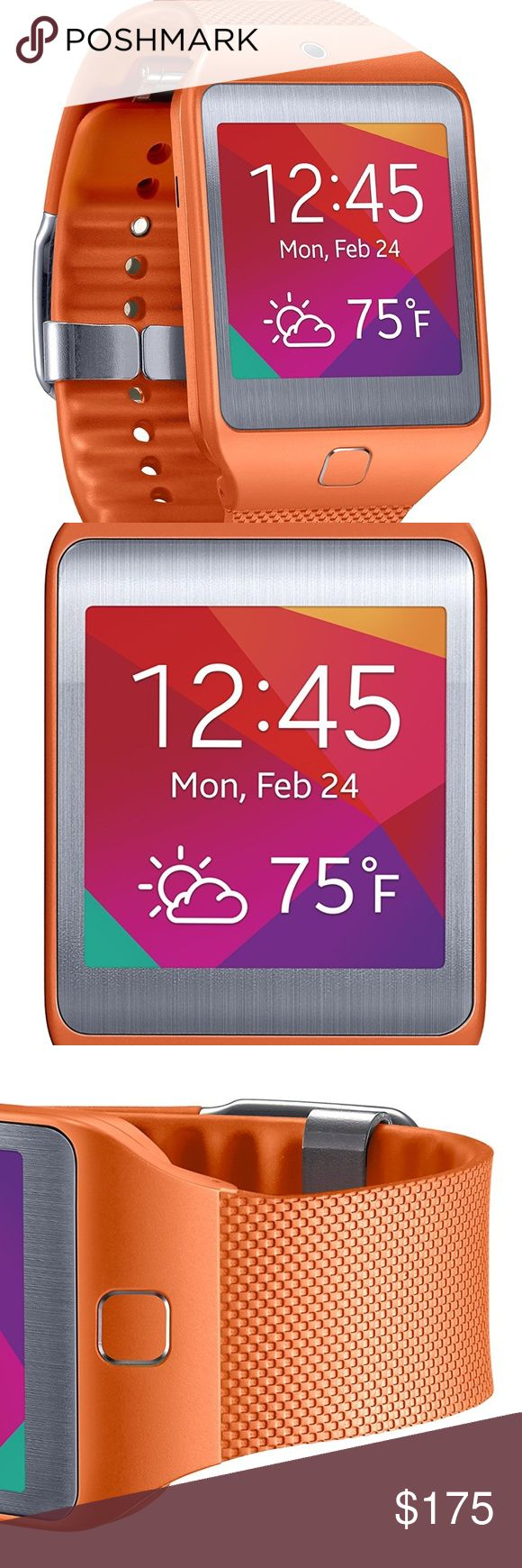 Brand New Samsung Gear 2 New Smart Watch Unisex Brand New Samsung Gear 2 Neo Smartwatch (Orange.  This device can make and receive calls, monitor your heart rate, and create a personalized fitness motivator.  Plus you can download hundreds of additional apps! Samsung Accessories Watches
