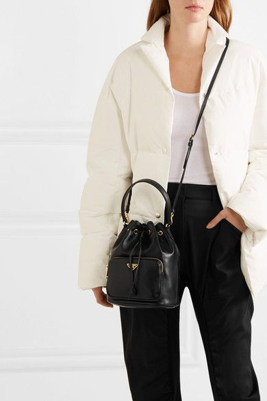 6ee3b566228a Prada - Leather bucket bag in 2019 | Playing Dress Up | Bags, Cloth ...