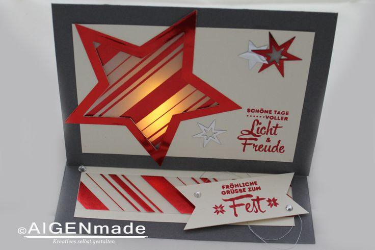 LED-Teelicht Weihnachtskarte #Stampin'UP!