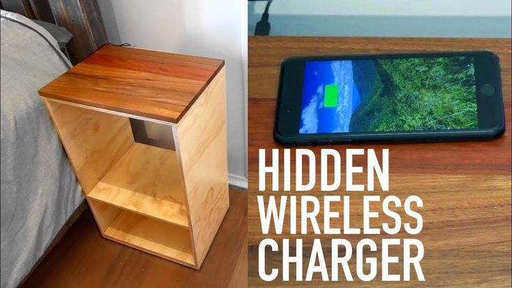 Hidden Wireless Charger In A Bedside Table (#QuickCrafter)