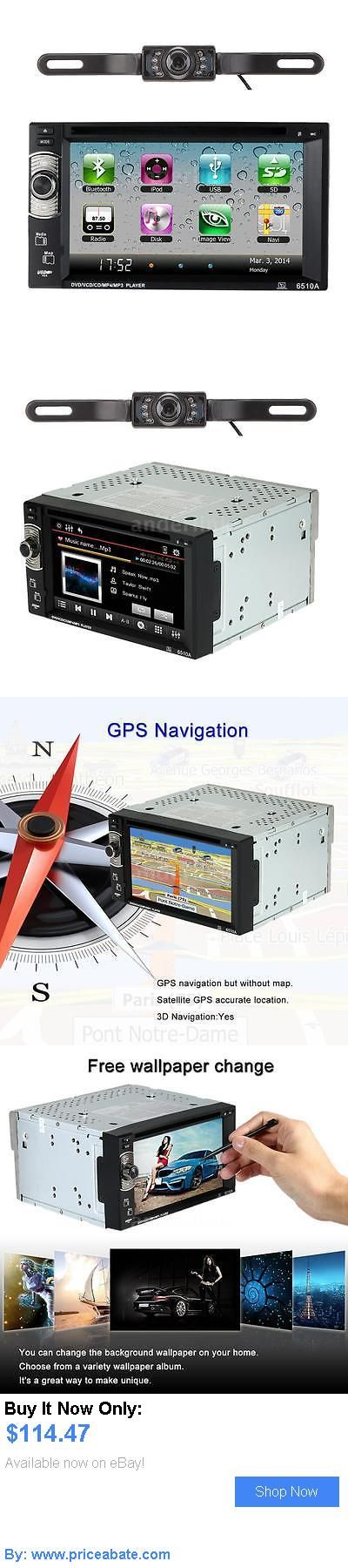 Car Audio Video And GPS: Gps Navigation 2 Din 6.2 Hd Car Dvd Player Bluetooth Radio Af/Fm Hd Camera N7s7 BUY IT NOW ONLY: $114.47 #priceabateCarAudioVideoAndGPS OR #priceabate