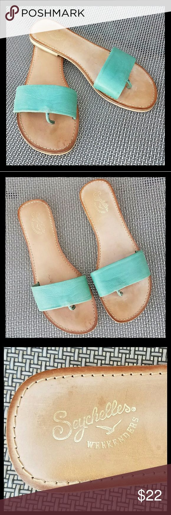 Seychelles Weekenders Sandals Leather Seychelles sandals w/leather foot bed. Signs of light wear. Good condition. Seychelles Shoes Sandals