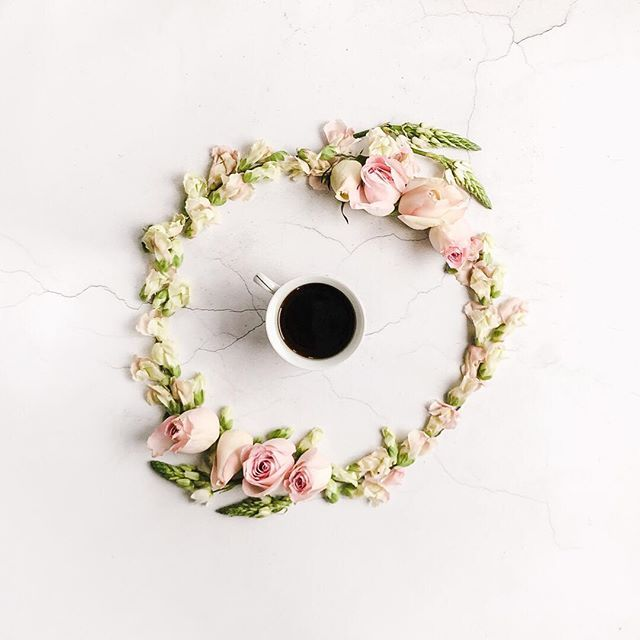 A cup and a wreath. . When I joined @instagram last year I signed up to courses from @makelight and @me_and_orla to try to learn more. Both courses encouraged you to discover the style and content which appealed to you by exploring Pinterest. In my case this was pastels florals the odd pretty facade (preferably in ice cream colours or covered in blossoms) and lots and lots of teacups surrounded by flowers. Something I had never seen before discovering Pinterest and Instagram but which…