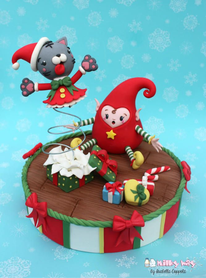 Christmas elf has a surprise - Cake by Milky Way di Isabella Coppola