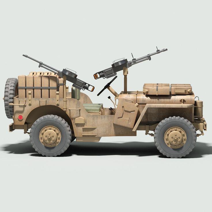 WW2 British SAS Desert Raider US. Willys Jeep