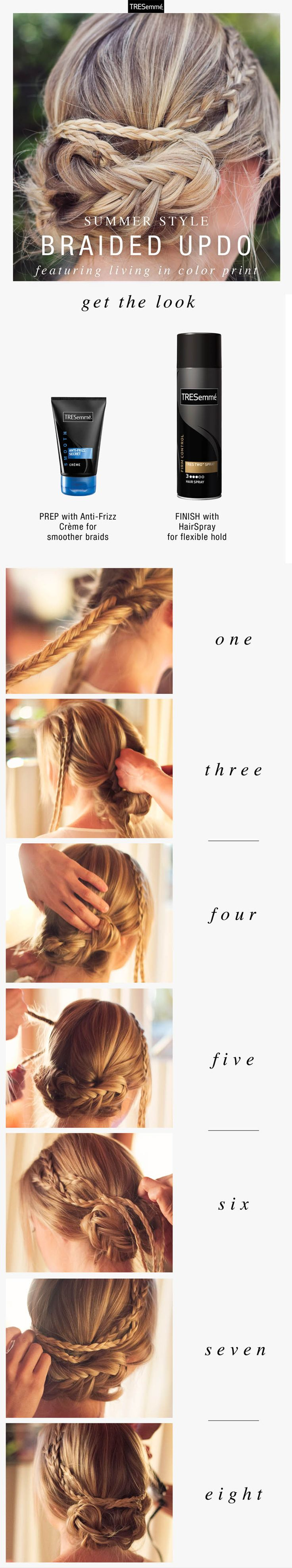 Kristin Clark of Living in Color Print rocks a gorgeous braided updo by our TRES stylists...and you can too.