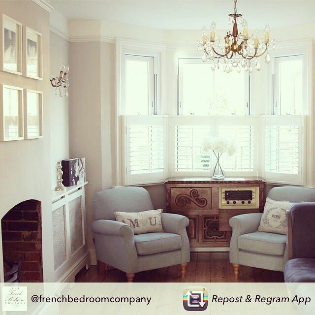 Just another gorgeous picture The French Bedroom Company are loving on Instagram: Repost from @frenchbedroomcompany using @RepostRegramApp - Hi I'm Georgia from @madamemathieu. The first image is my living room. Our Salon...this is one of our favourite rooms in the house because the sun beams in over the shutters in the morning and peeps through the back music room and into the living room as it sets. Our style is traditional chic with a strong French accent. We adore character homes and…