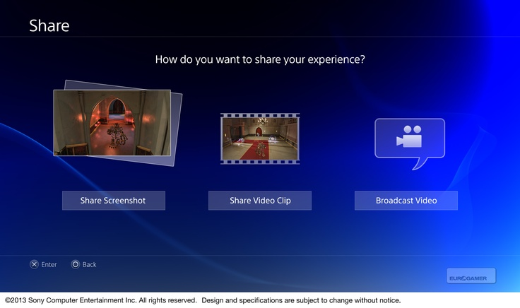 Sony has issued high-resolution images of the PlayStation 4 user interface, including its user profiles and Share functions.    #sony #playstation4 #ps4 #interface #ux #ui