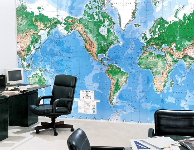 20 best Printing images on Pinterest Large format, Poster and Wall - best of world map for wall mural