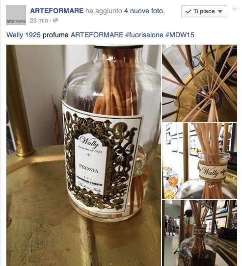 Fuori Salone 2015, Milano Corso Venezia da ARTEFORMARE. Fragranza d'Ambiente Peonia nella bottiglia da 3 Lt.