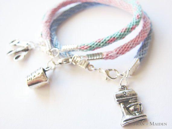 Friendship Bracelet Mixer Charm Pastel Blue by SwanMaidenJewels