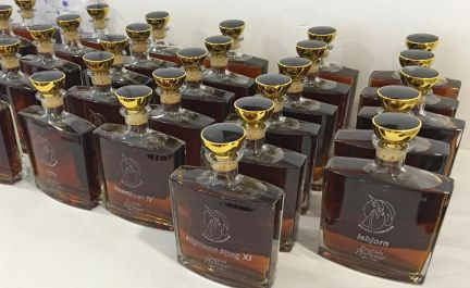 Non-racers often ask what kind of prizes owners get for winning races such as the Caribbean 600. Usually it's just a name on a trophy. But in the 600, every entry gets a decanter of English Harbour Rum with the boat name engraved on it.   Photo Latitude / Richard © 2016 Latitude 38 Publishing, LLC